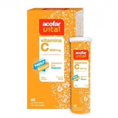 Acorfavital vitamina c (1000 mg 40 comprimidos efervescentes)