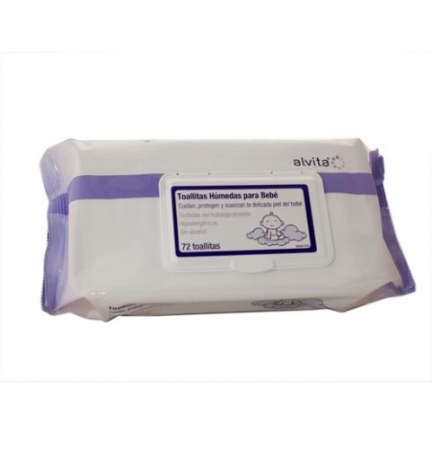 Alvita toallitas humedas para bebes (72 u)