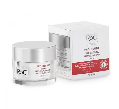 Roc pro-define crema antiflacidez reafirmante (1 envase 50 ml textura rica)