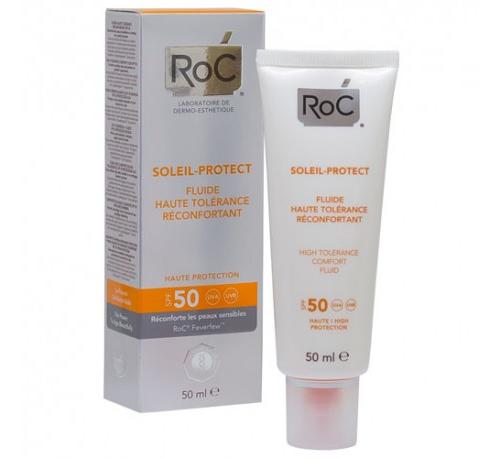 Roc soleil protect fluido dermocalmante - alta tolerancia spf 50+ (1 envase 50 ml)