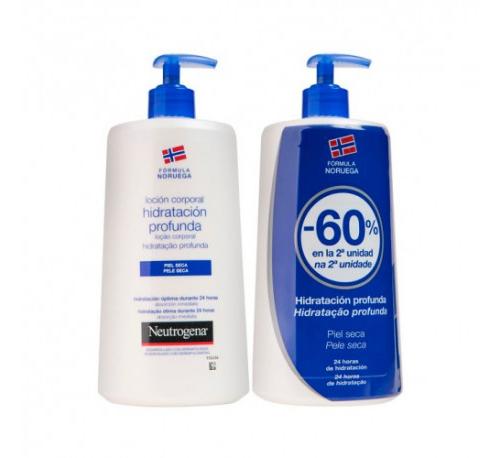 Neutrogena formula noruega locion corporal - hidratacion profunda piel seca (duplo 750 ml +750 ml)