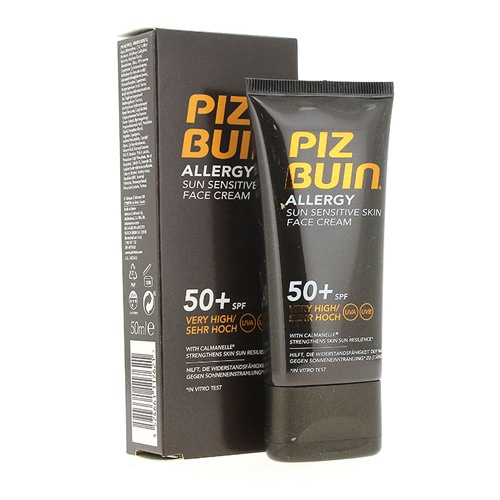 Piz buin allergy fps - 50+ proteccion muy alta - crema facial (50 ml)
