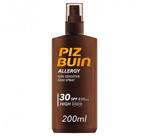 Piz buin allergy spray piel sensible al sol spf 30 - proteccion alta (1 envase 200 ml)