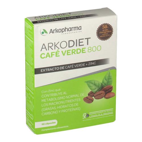 Arkodiet cafe verde med 800 (30 capsulas)