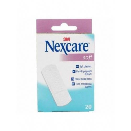 3m nexcare soft tiras protectoras suaves - aposito adhesivo (20 tiras)