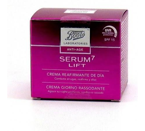 Boots laboratories serum7 lift - crema reafirmante de dia (1 envase 50 ml)