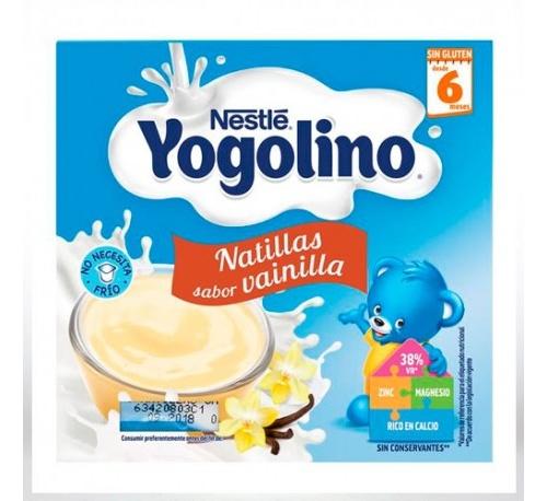 Nestle iogolino natillas sabor vainilla (100 g 4 tarrinas)