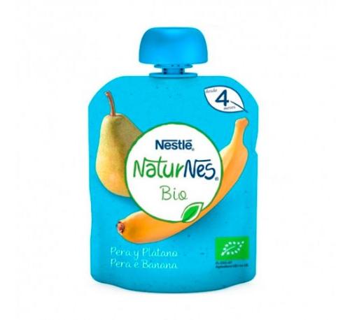 Nestle naturnes bio pera y platano (1 envase 90 g)