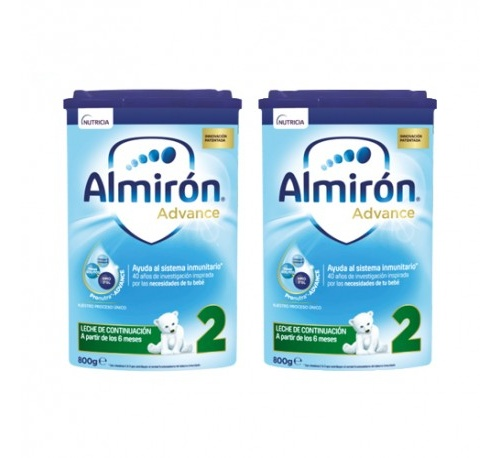 Almiron advance + pronutra 2 (2 envases 800 g pack ahorro)