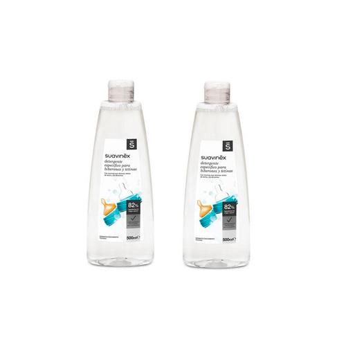 Suavinex detergente especifico biberones tetinas - gel limpiabiberones (duplo 500 ml + 500 ml)