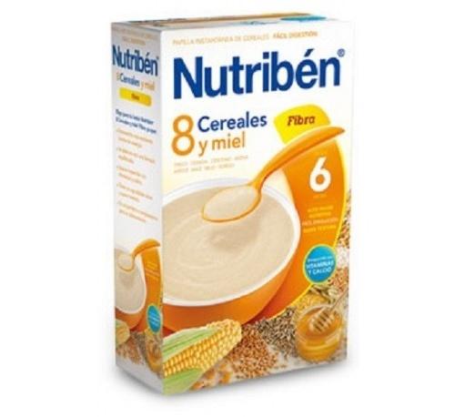 Nutriben 8 cereales y miel fibra (600 g)