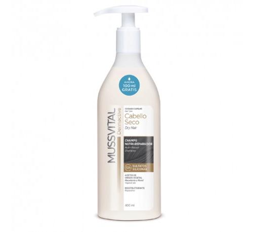 Mussvital champu cabello seco (1 envase 400 ml)