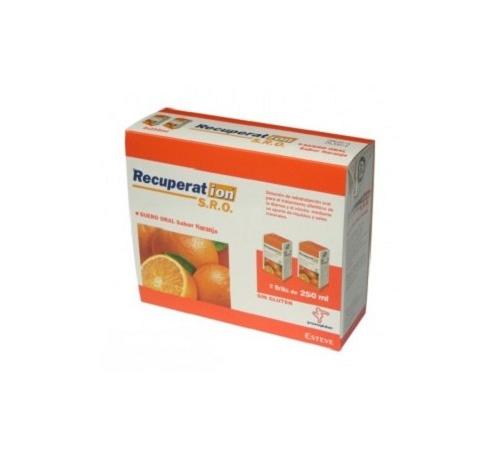 Recuperat-ion suero oral s.r.o. (2 bricks 250 ml sabor naranja)