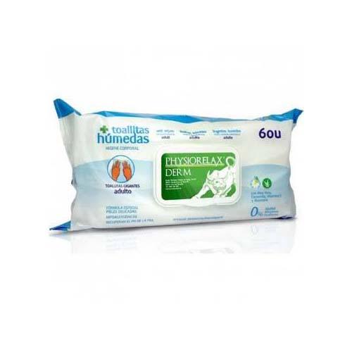 Physiorelax toallitas humedas higiene adulto (60 u)