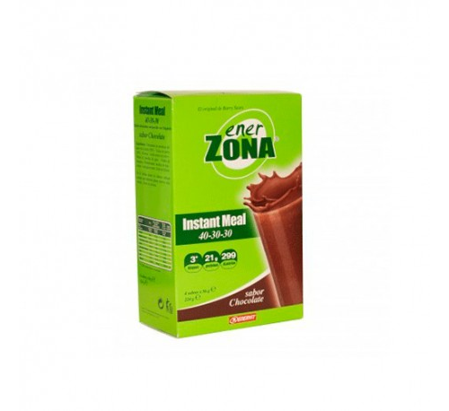 Enerzona 40-30-30 instant meal (4 sobres sabor chocolate)
