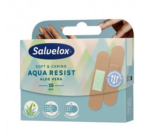 Salvelox aqua resist - aposito adhesivo aloe vera (19 mm x 72 mm 16 apositos)