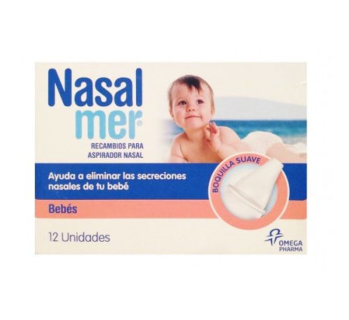 Nasalmer aspirador nasal recambio (12 boquillas)