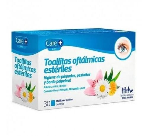 Care+ toallitas oftalmicas esteriles (30 toallitas)