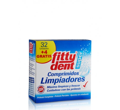 Fittydent super comp - limpieza protesis dental (32 + 4 comprimidos)
