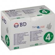 Aguja para plumas esteril - bd (32 g (0.23 mm x 4 mm) 100 u/caja)