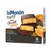 Bimanan metodo pro barrita chocolate y naranja (6 barritas)
