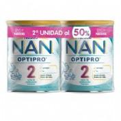 DUPLO Nan optipro 2 leche de continuacion (2 envases 800 g)
