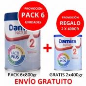 PACK 6 unidades Damira natur 2  800g  + ENVÍO GRATIS + REGALO 2 botes 400ml