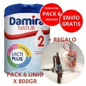 PACK 6 unidades Damira natur 2  800g  + ENVÍO GRATIS + REGALOS (1 PORTA GEL +  1 SUJETA)