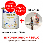 PACK6 Novalac 2 premium 800g + ENVÍO GRATIS + REGALOS (1 PORTA GEL + 1 SUJETA)