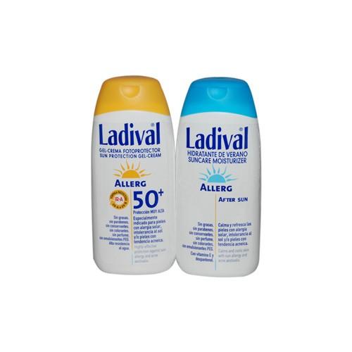 Duplo ladival pieles sensibles/ alergicas fps50+ - fotoproteccion  muy alta +after sun (pack duplo 2
