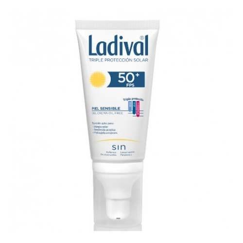 Ladival facial piel sensible fps 50+ (gel-crema 1 envase 50 ml)