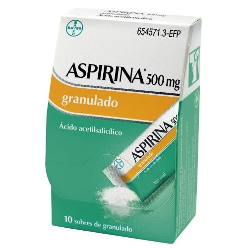 ASPIRINA 500 mg GRANULADO , 10 sobres