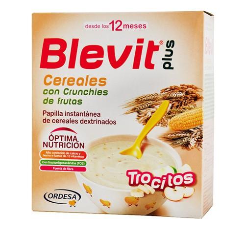 Blevit plus cereales y crunchies de fruta (1 envase 600 g)