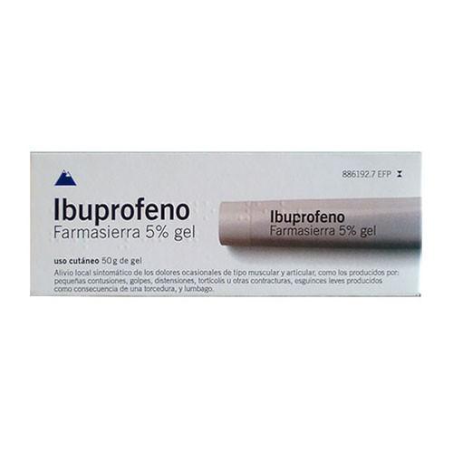 IBUPROFENO FARMASIERRA  50 mg/ g GEL , 1 tubo de 50 g