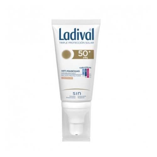 Ladival facial accion antimanchas con delentigo fps 50+ (1 envase 50 ml con color)