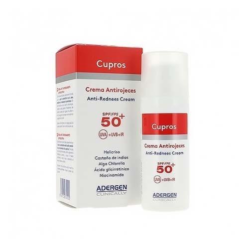 Adergen cupros crema antirrojeces spf 50+ (1 envase 50 ml)