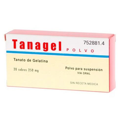 TANAGEL 250 mg POLVO PARA SUSPENSION ORAL , 20 sobres