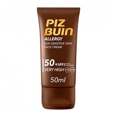 Piz buin allergy crema facial piel sensible al sol spf 50+ - proteccion muy alta (1 envase 50 ml)