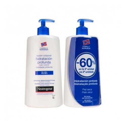 Neutrogena formula noruega locion corporal - hidratacion profunda piel seca (2 envases 750 ml duplo)