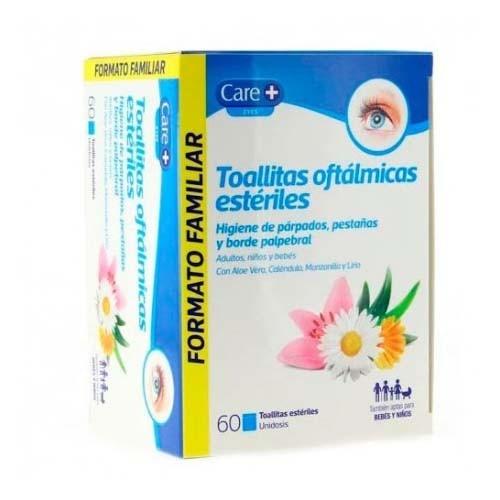 Care+ toallitas oftalmicas esteriles (60 unidades)