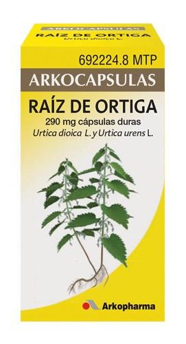 ARKOCAPSULAS RAIZ DE ORTIGA 290 MG CAPSULAS DURAS, 48 cápsulas