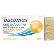 BUCOMAX CON LIDOCAINA PASTILLAS PARA CHUPAR SABOR MIEL Y LIMON, 24 pastillas