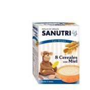 Sanutri papilla 8 cereales con miel (600 g)