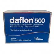 DAFLON 500 mg COMPRIMIDOS RECUBIERTOS , 60 comprimidos