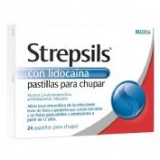STREPSILS CON LIDOCAINA PASTILLAS PARA CHUPAR , 24 pastillas