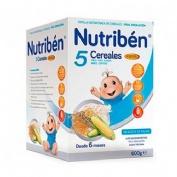 Nutriben papilla 5 cereales fibra (600 g)