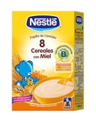 Nestle papilla 8 cereales con miel (600 g)