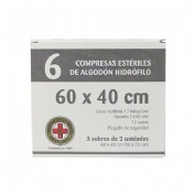 Gasa esteril algodon hidrofilo compresas (Sobre 3 u  6 u)