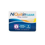 NIQUITIN CLEAR 14 mg, 24 HORAS PARCHE TRANSDERMICO, 7 parches transdermicos