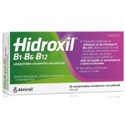 HIDROXIL B1-B6-B12 COMPRIMIDOS RECUBIERTOS CON PELICULA , 30 comprimidos